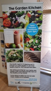 Wester Hailes Healthy Living Centre hosts the Garden Kitchen every Tuesday. It is a good opportunity for staff and local community members to meet and network.