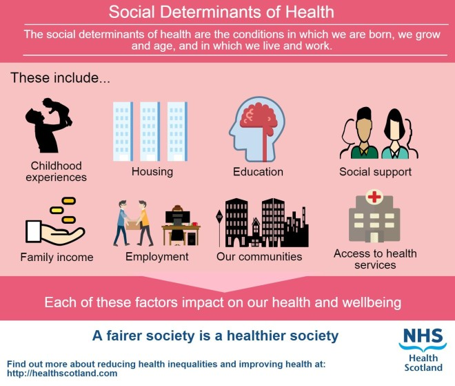 Social determinants of health infographic